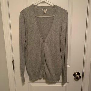 Old Navy gray v-neck cardigan, size L